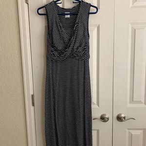 Cabi Navy/White Stripe Maxi Dress